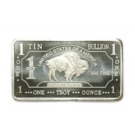 Tin Buffalo Bar 1 Troy Ounce One Troy Oz