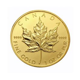 1 Oz Canadian Gold Maple Leaf Coin One Ounce Gold Maple Leaf
