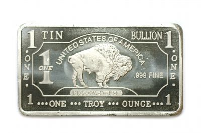 1 Troy Oz Tin Buffalo Bar