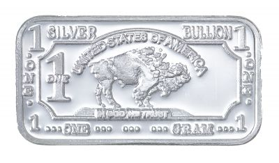 Buy Silver Online With This 1 Gram Silver Buffalo Bar