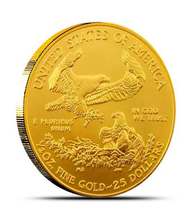 1 2 Oz American Gold Eagle Coin 999 Fine Gold Buy