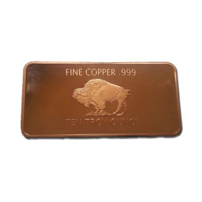 Buy Copper Bullion Buffalo Bar 10 Troy Ounce Copper Bar