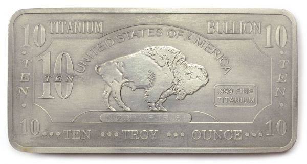 10 Troy Oz Titanium Bullion Buffalo Bar Buy Titanium