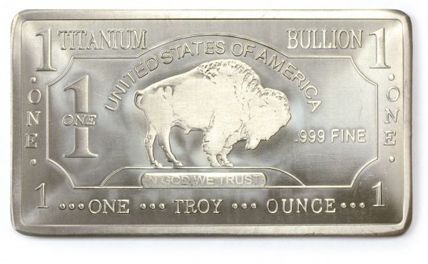 1 Troy Oz Titanium Buffalo Bar Buy Titanium Online