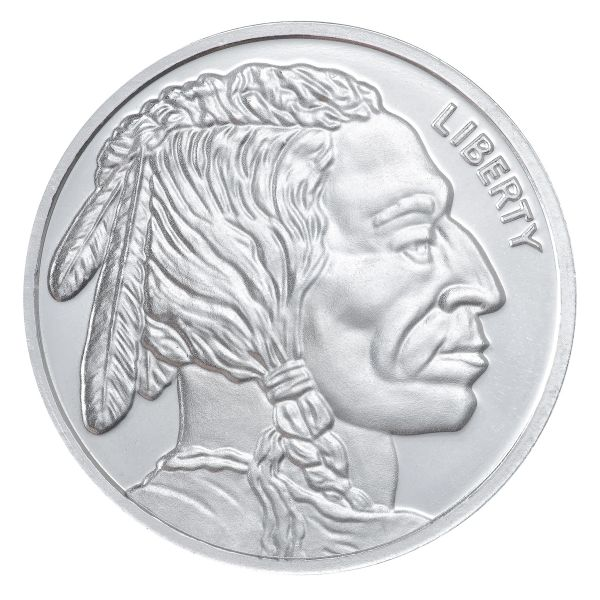 MINT 1 Oz..INDIAN HEAD 999 SILVER ROUND COIN