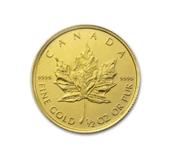 1 2 Oz Canadian Gold Maple Leaf Coin One Ounce Gold