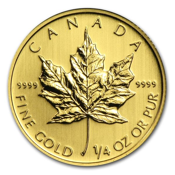 1 4 Oz Canadian Gold Maple Leaf Coin