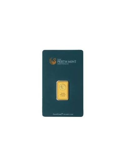 1 Gram Perth Gold Bar .9999 Fine Gold