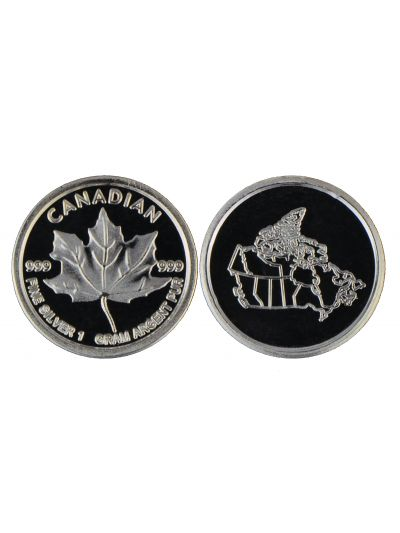 1 Gram Silver Maple Leaf Round