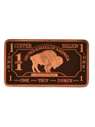 Buy Silver Online With 1 Troy Oz German Silver Buffalo Bar