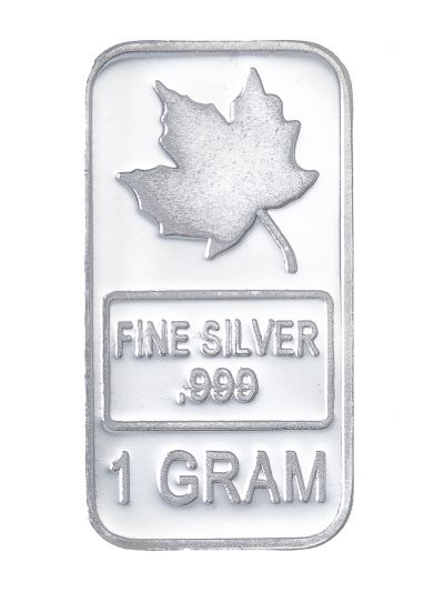 **Delayed** 1 Gram Silver Maple Leaf Bar