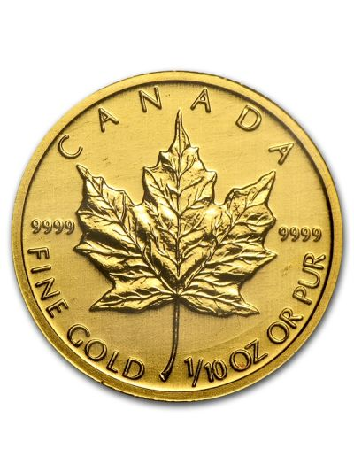 1/10 Oz Canadian Gold Maple Leaf Coin